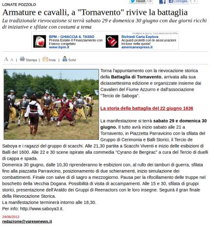 Varesenews del 24 giugno 2013
