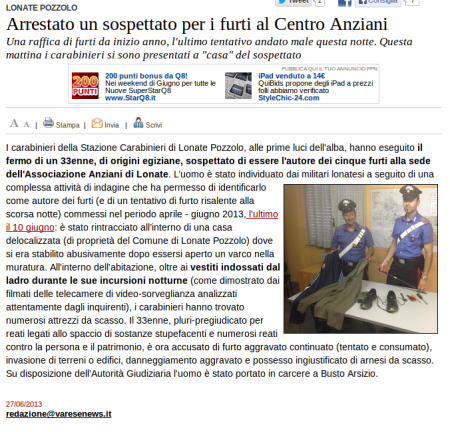 Varesenews del 27 giugno 2013
