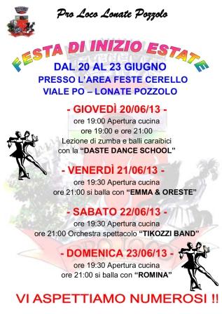 Festa di inizio estate 2013