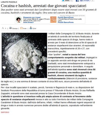 Varesenews del 20 luglio 2013