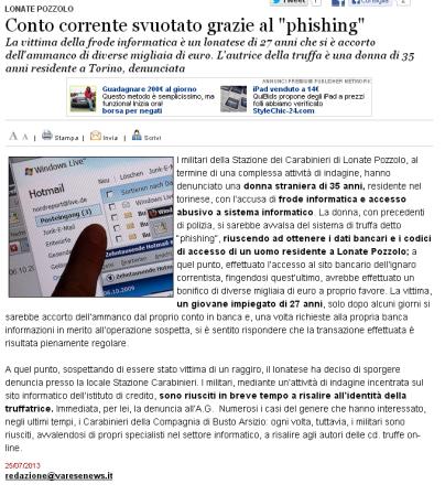 Varesenews del 25 luglio 2013