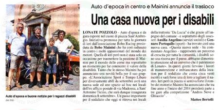 La Prealpina del 21 luglio 2013