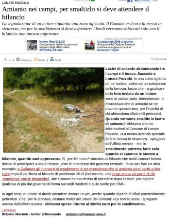 Varesenews del 13 agosto 2013
