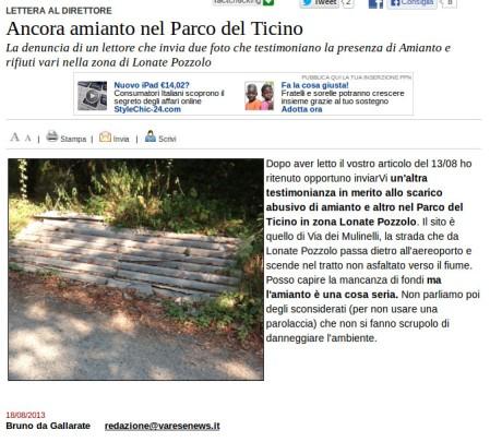 Varesenews del 18 agosto 2013