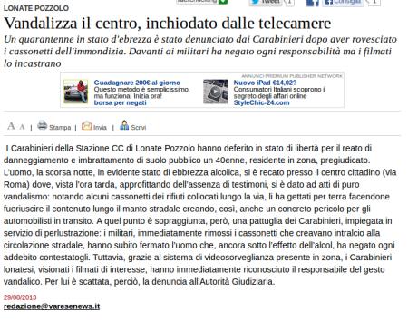 Varesenews del 29 agosto 2013