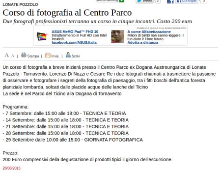 Varesenews del 28 agosto 2013