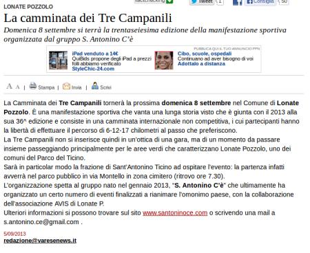 Varesenews del 5 settembre 2013