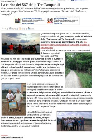 Varesenews del 9 settembre 2013