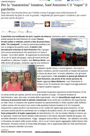 Varesenews del 11 settembre 2013