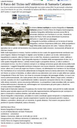 Varesenews del 20 settembre 2013