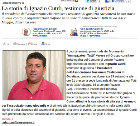Varesenews del 27 settembre 2013