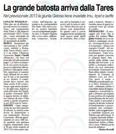 La Prealpina del 29 settembre 2013