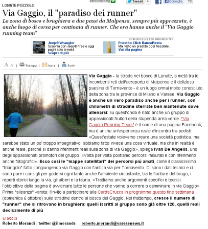 Varesenews del 1° ottobre 2013