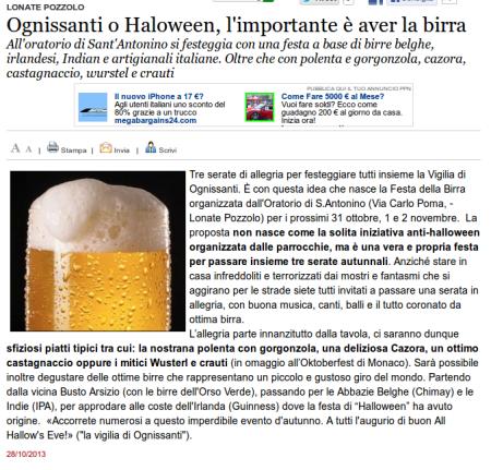 Varesenews del 28 ottobre 2013