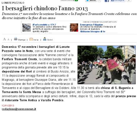 Varesenews del 12 novembre 2013