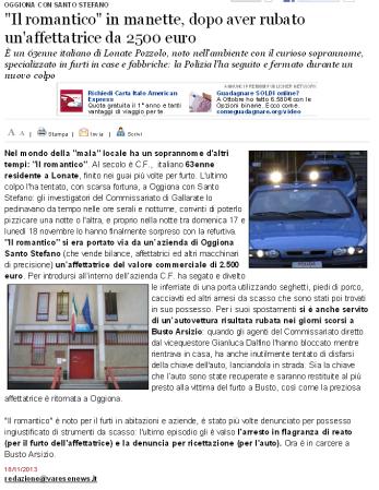 Varesenews del 18 novembre 2013