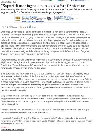 Varesenews del 20 novembre 2013