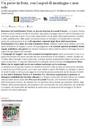 Varesenews del 26 novembre 2013