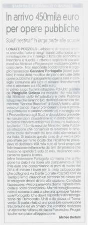 La Prealpina del 27 novembre 2013