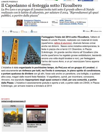 Varesenews del 30 dicembre 2013