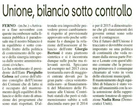 La Prealpina del 4 gennaio 2013