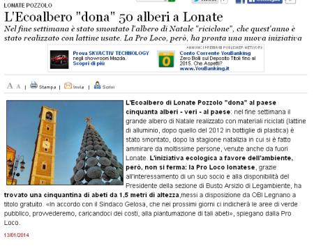 Varesenews del 13 gennaio 2014