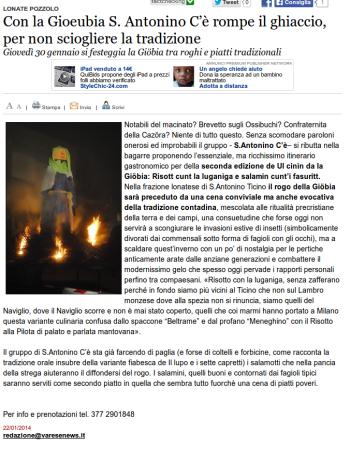 Varesenews del 22 gennaio 2014