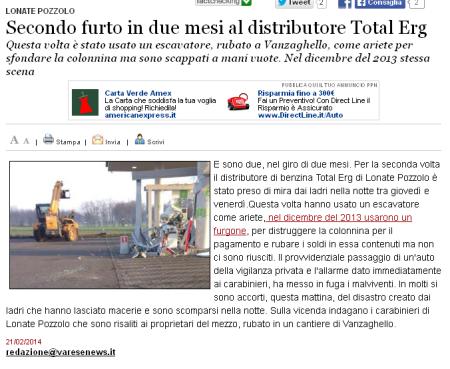 Varesenews del 21 febbraio 2014
