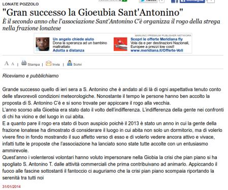 Varesenews del 31 gennaio 2014