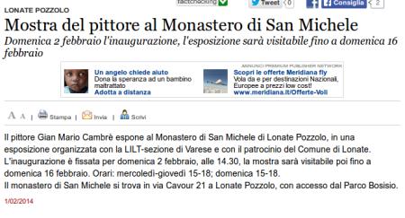 Varesenews del 1° febbraio 2014