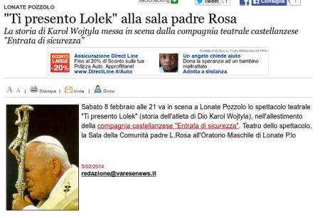 Varesenews del 5 febbraio 2014