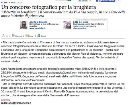 Varesenews del 7 febbraio 2014