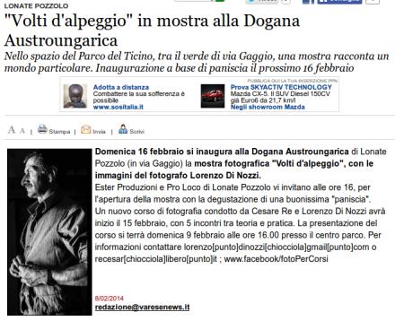 Varesenews del 8 febbraio 2014