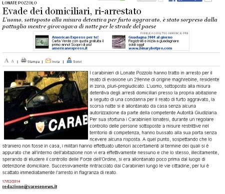 Varesenews del 17 febbraio 2014