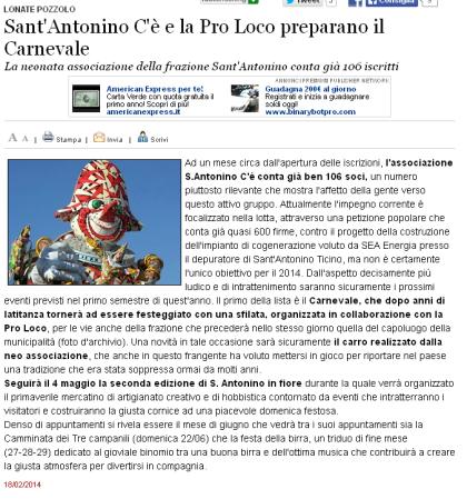 Varesenews del 18 febbraio 2014