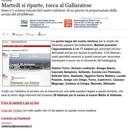 Varesenews del 23 febbraio 2014