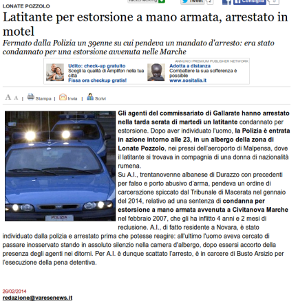Varesenews del 26 febbraio 2014
