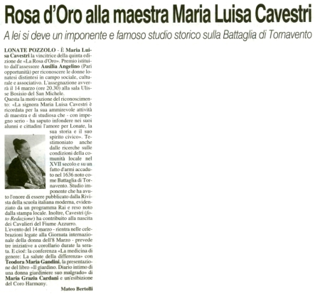 La Prealpina del 6 marzo 2014