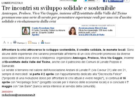 Varesenews del 26 marzo 2014