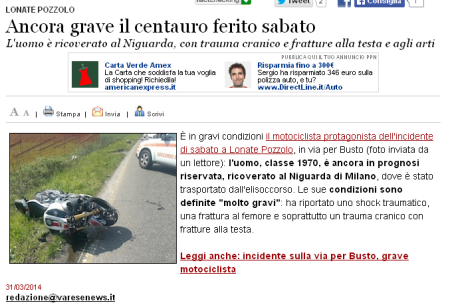 Varesenews del 31 marzo 2014