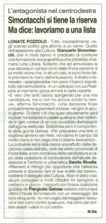 La Prealpina del 3 aprile 2014