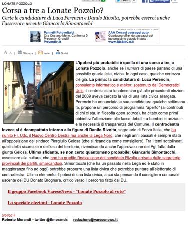 Varesenews del 3 aprile 2014