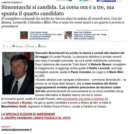 Varesenews del 5 aprile 2014