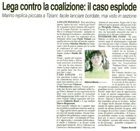 La Prealpina del 8 aprile 2014