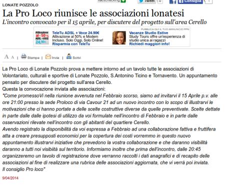 Varesenews del 9 aprile 2014