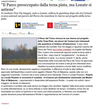 Varesenews del 17 aprile 2014