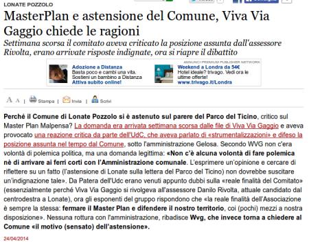 Varesenews del 24 aprile 2014