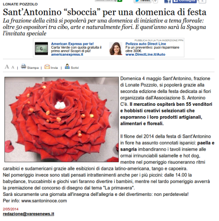 Varesenews del 2 maggio 2014