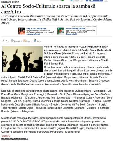 Varesenews del 16 maggio 2014