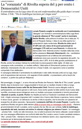 Varesenews del 27 maggio 2014